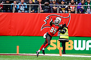 Tampa Bay Buccaneers Wide Receiver Bobo Wilson (85) catches the ball during the International Series match between Tampa Bay Buccaneers and Carolina Panthers at Tottenham Hotspur Stadium, London, United Kingdom on 13 October 2019.
