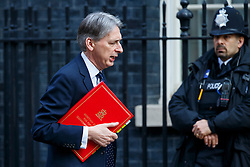 © Licensed to London News Pictures. 22/03/2016. London, UK. Foreign Secretary PHILIP HAMMOND attending a cabinet meeting in Downing Street on Tuesday, 22 March 2016. Photo credit: Tolga Akmen/LNP