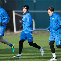 St Johnstone Training….27.12.16<br />Chris Millar pictured in training this morning at McDiarmid Park with Keith Watson and Paul Paton ahead of tomorrow's game against Rangers<br />Picture by Graeme Hart.<br />Copyright Perthshire Picture Agency<br />Tel: 01738 623350  Mobile: 07990 594431