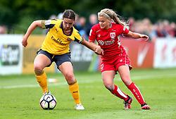 Olivia Fergusson of Bristol City Women challenges Lotte Wubbon-Moy of Arsenal Ladies - Mandatory by-line: Robbie Stephenson/JMP - 03/06/2017 - FOOTBALL - Stoke Gifford Stadium - Bristol, England - Bristol City Women v Arsenal Ladies - FA Women's Super League Spring Series