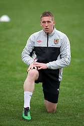 CARDIFF, WALES - Monday, March 21, 2011: Wales' Freddie Eastwood during a training session at the Vale of Glamorgan ahead of the UEFA Euro 2012 qualifying Group G match against England. (Photo by David Rawcliffe/Propaganda)