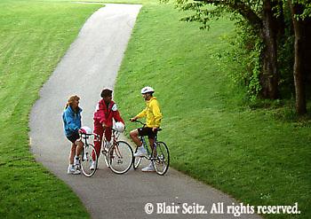 PA landscapes Biking in PA Young Adult Female African American Biker, York Co., PA, Park Mixed Race Biking,