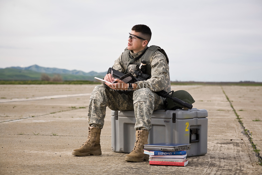 GI Bill: Soldier Studying