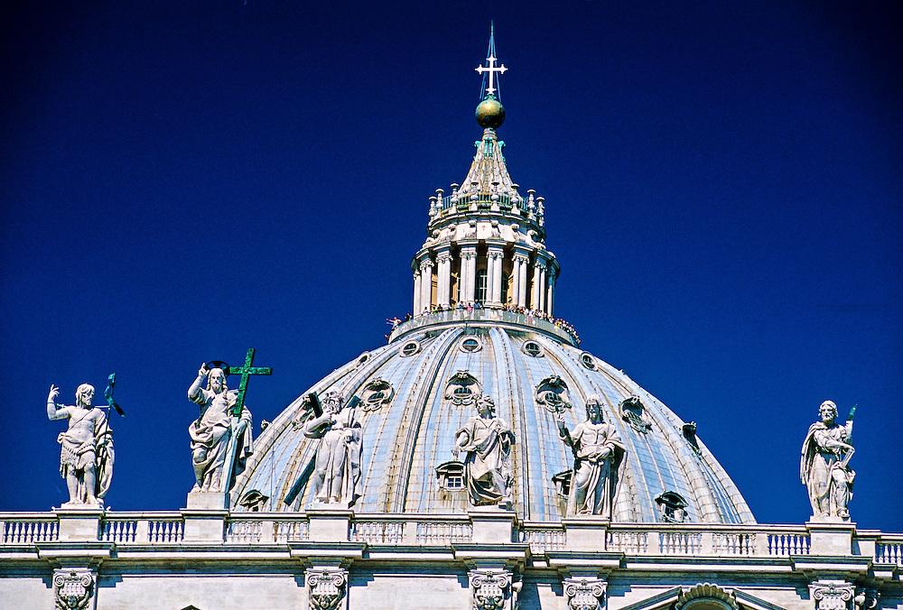 Dome of St. Peter's Basilica (Basilica di San Pietro), Vatican, Rome, Italy
