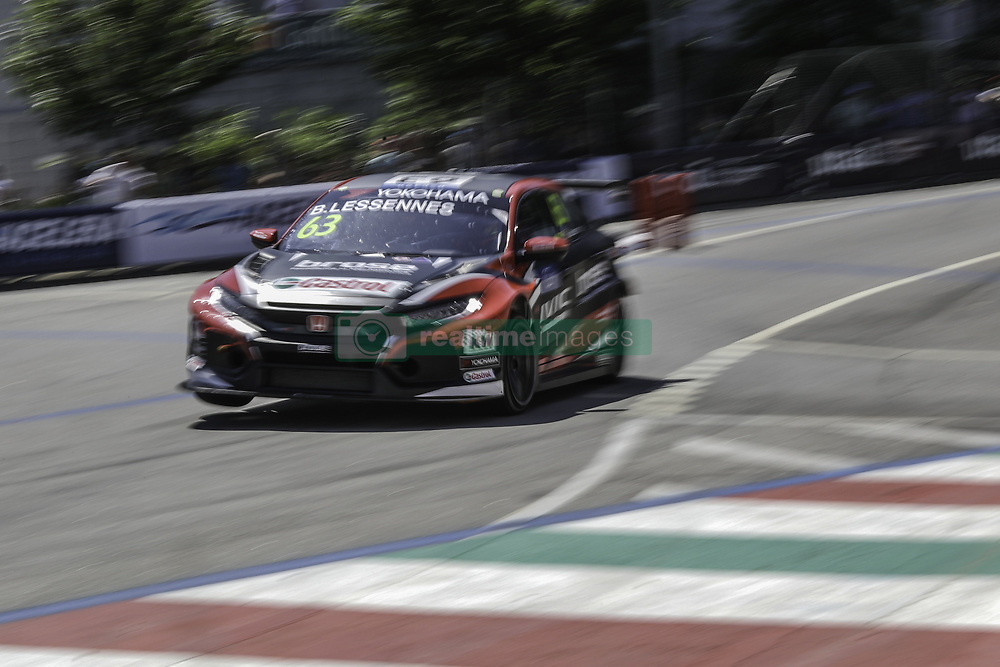 June 23, 2018 - Vila Real, Vila Real, Portugal - Benjamin Lessennes from Belgium in Honda Civic Type R TCR of Boutsen Ginion Racing in action during the Race 1 of FIA WTCR 2018 World Touring Car Cup Race of Portugal, Vila Real, June 23, 2018. (Credit Image: © Dpi/NurPhoto via ZUMA Press)