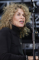 Carol King performing at the United We Stand: What More Can I Give?  benefit concert at RFK Stadium in Washington, DC.  October 21, 2001 (Photo by Jeff Snyder)