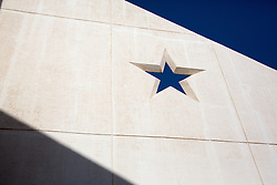 Star on a building carved in stone
