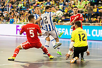Benfica's Fabio Cecilio and Juanjo and Pescara's Cristian Borruto during UEFA Futsal Cup 2015/2016 3º/4º place match. April 22,2016. (ALTERPHOTOS/Acero)