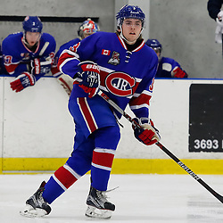 TORONTO, ON - NOV 27,  2016: Ontario Junior Hockey League game between Toronto Patriots and Toronto Jr. Canadiens, Curtis Weyerhaeuser,  #3 of the Toronto Jr. Canadiens, during the first period.<br /> (Photo by Anna Matthews / OJHL Images)
