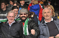 Supporting Castlebar Celtic at the Connaught Cup Final at Milebush were John Hanley, Michael Oliver Sheridan and John Gibbons.<br /> Pic Conor McKeown