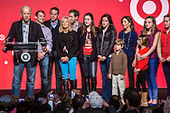 Vice President Joseph R. Biden, left, is joined by his extended family on stage during remarks at the Unite America in Service event, part of the National Day of Service, at the DC Armory on Saturday, January 19, 2013 in Washington, DC.
