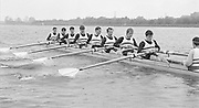 Nottingham. United Kingdom. <br /> Nautilus, Bow, Chris BATES, Peter HAINING, GRITTITHS, NELSON, DOWNING, Nick HOWE, Neil STAITHE, Stuart FORBES and cox John DEAKIN<br /> Nottingham International Regatta, National Water Sport Centre, Holme Pierrepont. England<br /> <br /> 31.05.1986 to 01.06.1986<br /> <br /> [Mandatory Credit: Peter SPURRIER/Intersport images] 1986 Nottingham International Regatta, Nottingham. UK