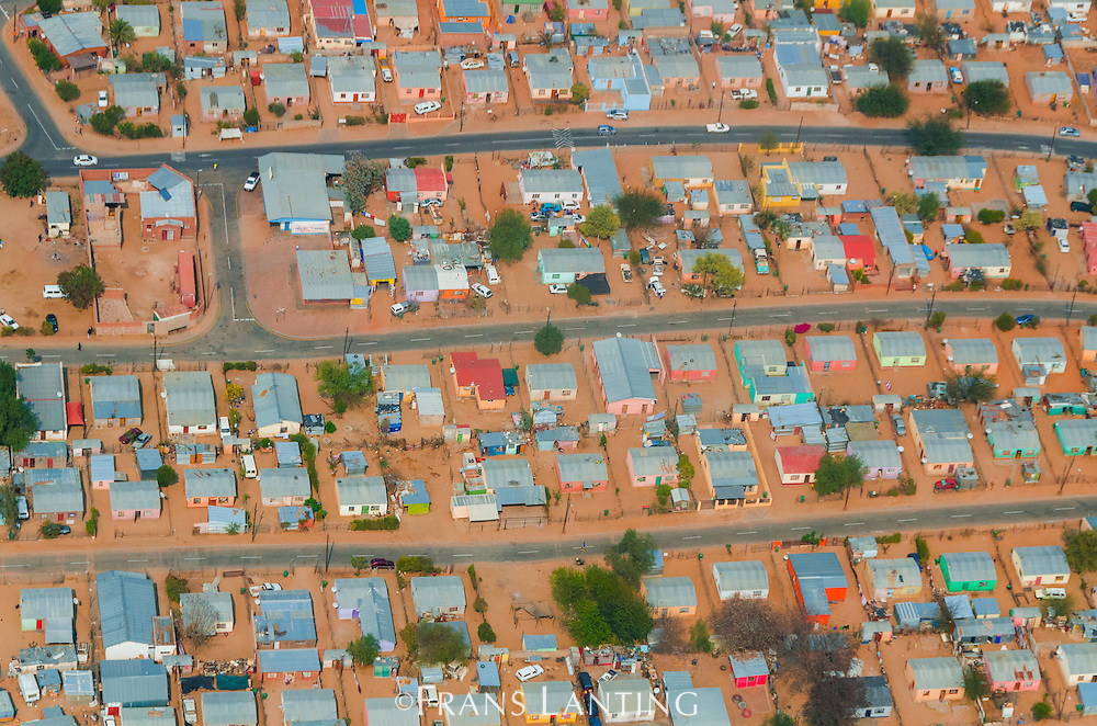 Suburban neighborhood, (aerial), Windhoek, Namibia