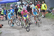 Foto Tim De Waele/LaPresse - Fabio Ferrari<br /> 30/05/2015 Saint Vicent (Italia)<br /> Sport Ciclismo<br /> Giro d'Italia 2015 - 98a edizione - Tappa 20 - da Saint Vicent a Sestriere - 196 km (121,7 miglia)<br /> Nella foto:Aru Fabio -Ita- (Astana) vincitore di tappa, Contador Velasco Alberto -Esp- (Tinkoff Saxo)<br /> <br /> Photo LaPresse - Fabio Ferrari<br /> 30 May 2015  Saint Vicent (Italy)<br /> Sport Cycling<br /> Giro d'Italia 2015 - 98a edizione - Stage 20 - from da Saint Vicent to Sestriere  - 196 km (121,7 miles) <br /> In the pic:Aru Fabio -Ita- (Astana) winner of race