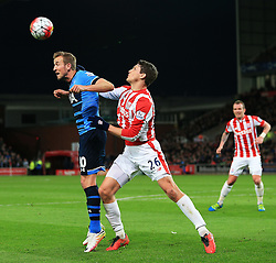 Harry Kane of Tottenham Hotspur and Philipp Wollscheid of Stoke City in action - Mandatory by-line: Matt McNulty/JMP - 18/04/2016 - FOOTBALL - Britannia Stadium - Stoke, England - Stoke City v Tottenham Hotspur - Barclays Premier League