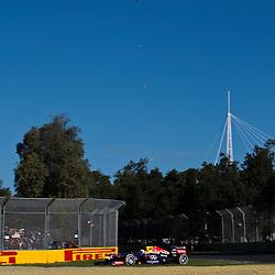 F1 Australian Grand Prix 15 March 2013 Practice Session 2.Practice Session 2. Sebastian Vettel Infinitti Red Bull Racing Turn 6;.(c) MILOS LEKOVIC | StockPix.eu