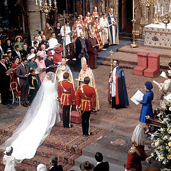 The scene inside Westminster Abbey in London as Princess Anne weds Captain Mark Phillips.