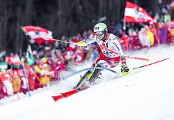 "29.01.2019, Planai, Schladming, AUT, FIS Weltcup Ski Alpin, Slalom, Herren, 1. Lauf, im Bild Marc Digruber (AUT) // Marc Digruber of Austria in action during his 1st run of men's Slalom ""the Nightrace"" of FIS ski alpine world cup at the Planai in Schladming, Austria on 2019/01/29. EXPA Pictures © 2019, PhotoCredit: EXPA/ JFK"