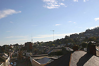 View over rooftops Dublin Ireland<br />