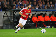 Daley Blind of Manchester United on the ball during the Champions League Qualifying Play-Off Round match between Club Brugge and Manchester United at the Jan Breydel Stadion, Brugge, Belguim on 26 August 2015. Photo by Phil Duncan.