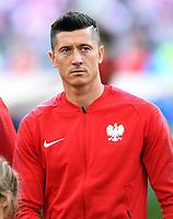 FUSSBALL WM 2018  Vorrunde  Gruppe H --- Polen - Senegal           19.06.2018 Robert Lewandowski (Polen)