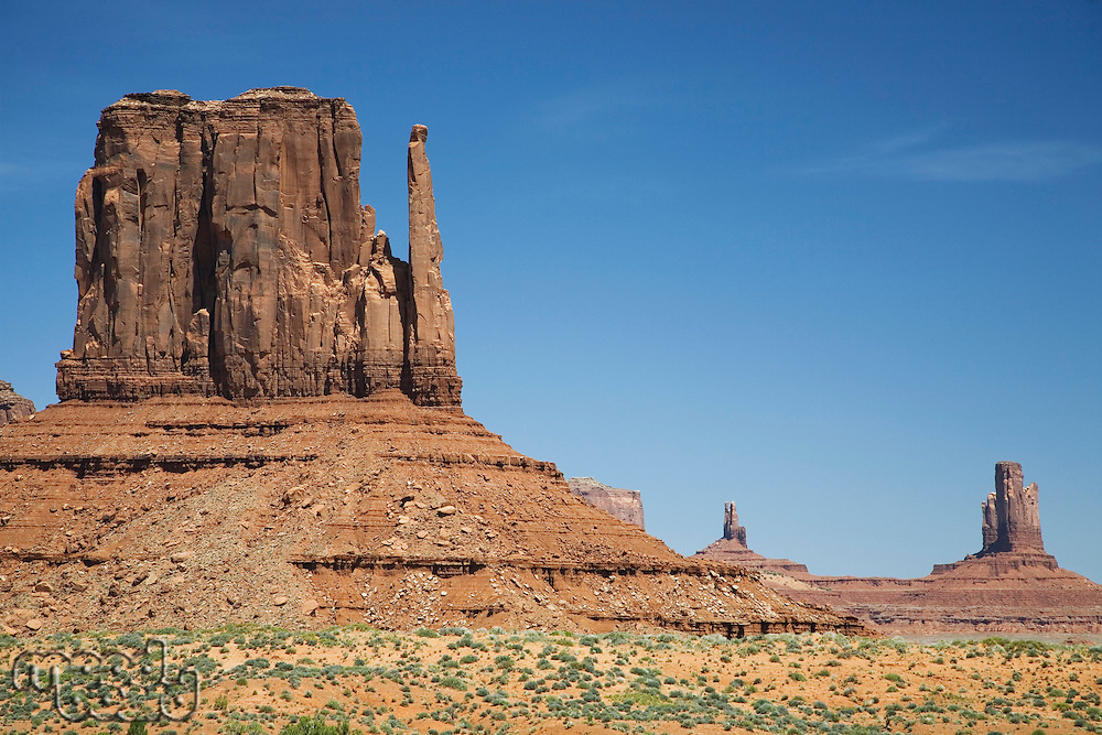 USA Arizona Mitten Butte at Monument Valley