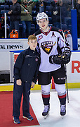 KELOWNA, CANADA - NOVEMBER 28: Second Star of the Game Bowen Byram #44 of the Vancouver Giants at the Kelowna Rockets game on November 28, 2018 at Prospera Place in Kelowna, British Columbia, Canada. (Photo By Cindy Rogers/Nyasa Photography, *** Local Caption ***