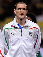 Fussball International, Italienische Nationalmannschaft  Italien - Kamerun 03.03.2010 Giorgio Chiellini (ITA)