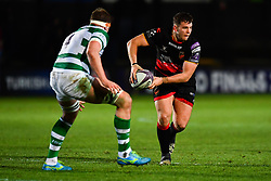 Dragons' Elliot Dee in action during todays match<br /> <br /> Photographer Craig Thomas/Replay Images<br /> <br /> EPCR Champions Cup Round 3 - Newport Gwent Dragons v Newcastle Falcons - Saturday 15th December 2017 - Rodney Parade - Newport<br /> <br /> World Copyright © 2017 Replay Images. All rights reserved. info@replayimages.co.uk - www.replayimages.co.uk