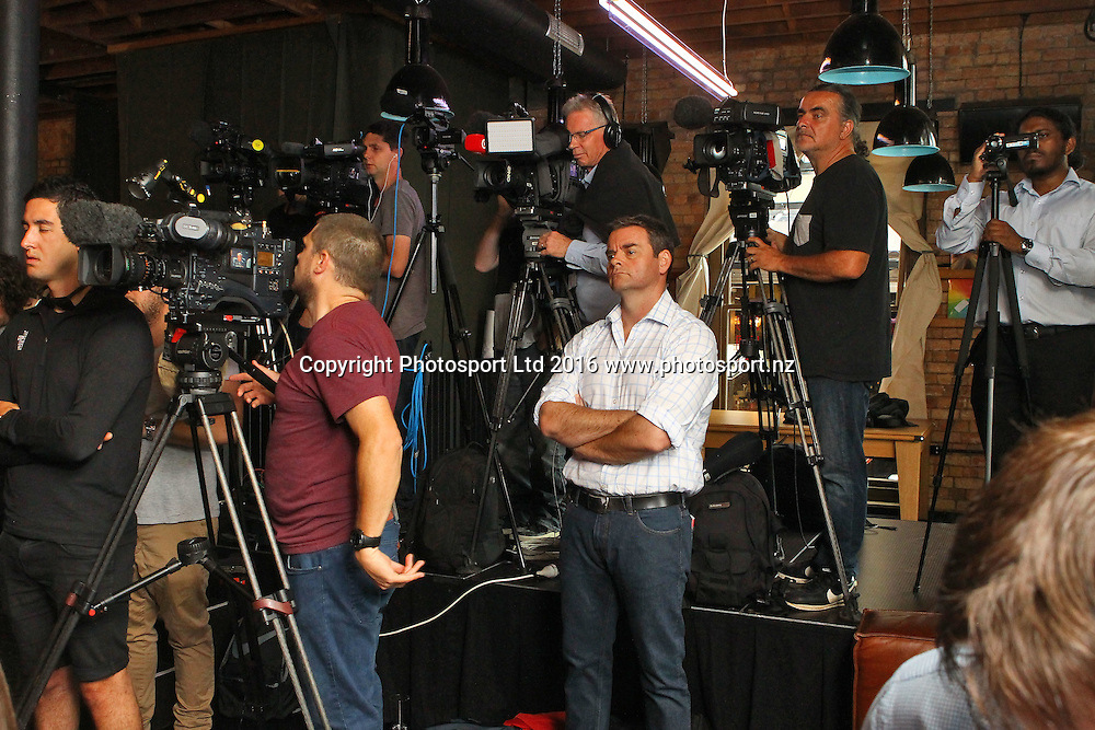 Media, Final press conference before the December 10, Parker v Ruiz, WBO world boxing heavyweight title fight. Rec Bar, Auckland. 8 December 2016 / www.photosport.nz