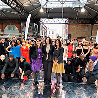 LONDON, ENGLAND - JANUARY 20: A general group picture at The Big Dance 2010 Launch  at the Old Spitafields Market on January 20, 2010 in London, England. 10,000 people expected to take part in The Big Dance which will take place between July 3-11.  (Photo by Marco Secchi/Getty Images)