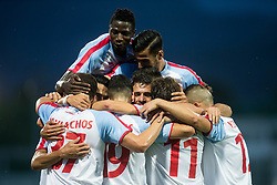 Players of Panionios GSS celebrate after Giorgos Masouras of Panionios GSS scored first goal for Panionios during 2nd Leg football match between ND Gorica (SLO) and Panionios GSS (GRE) in 2nd Qualifying Round of UEFA Europa League 2017/18, on July 20, 2017 in Nova Gorica, Slovenia. Photo by Vid Ponikvar / Sportida
