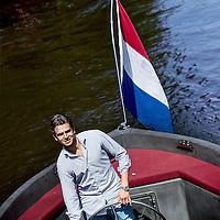 Nederland, Amsterdam, 21 juli 2016.<br />Nick Gelevert, oprichter Boatsters, airbnb voor boten<br /><br /><br /><br />Foto: Jean-Pierre Jans