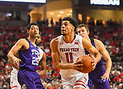 LUBBOCK, TX - MARCH 3: Zach Smith #11 of the Texas Tech Red Raiders goes to the basket during the game against the TCU Horned Frogs on March 3, 2018 at United Supermarket Arena in Lubbock, Texas. Texas Tech defeated TCU 79-75. Texas Tech defeated TCU 79-75. (Photo by John Weast/Getty Images) *** Local Caption *** Zach Smith