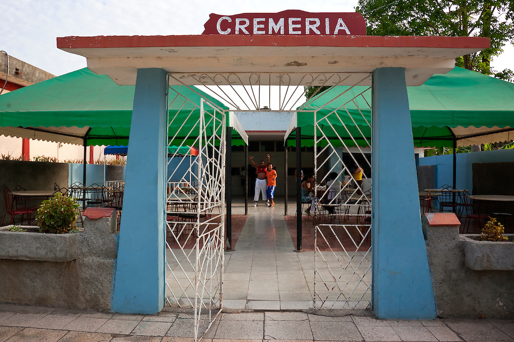 Ice cream cafe in Niquero, Granma Province, Cuba.