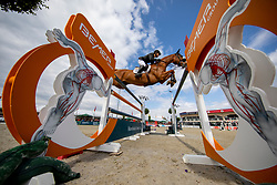 FUKUSHIMA Daisuke (JPN), Chanyon<br /> Hagen - Horses and Dreams 2019<br /> Großer Preis der Deutschen Kreditbank AG- BEMER RIDERS TOUR - Wertungsprüfung - CSI4* Grand Prix Two Rounds<br /> 28. April 2019<br /> © www.sportfotos-lafrentz.de/Stefan Lafrentz