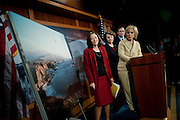 May 13,2010 - Washington, District of Columbia USA - California Senator Barbara Boxer announces legislation calling for a permanent ban on oil drilling off the West Coast. The bill, also sponsored by Senators Dianne Feinstein (D-CA),  Maria Cantwell and Patty Murray of Washington and Ron Wyden and Jeff Merkley of Oregon would amend the Outer Continental Shelf Lands Act to permanently protect the $34 billion coastal economies of the three states. (Credit Image: © Pete Marovich/ZUMA Press)