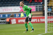 Graham Stack (goalkeeper) of Barnet FC during the Sky Bet League 2 match between Wycombe Wanderers and Barnet at Adams Park, High Wycombe, England on 16 April 2016. Photo by Dennis Goodwin.