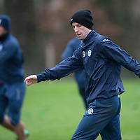 St Johnstone Training…18.12.15<br />Steven MacLean pictured in training this morning at McDiarmid Park ahead of tomorrow's game against Hearts<br />Picture by Graeme Hart.<br />Copyright Perthshire Picture Agency<br />Tel: 01738 623350  Mobile: 07990 594431