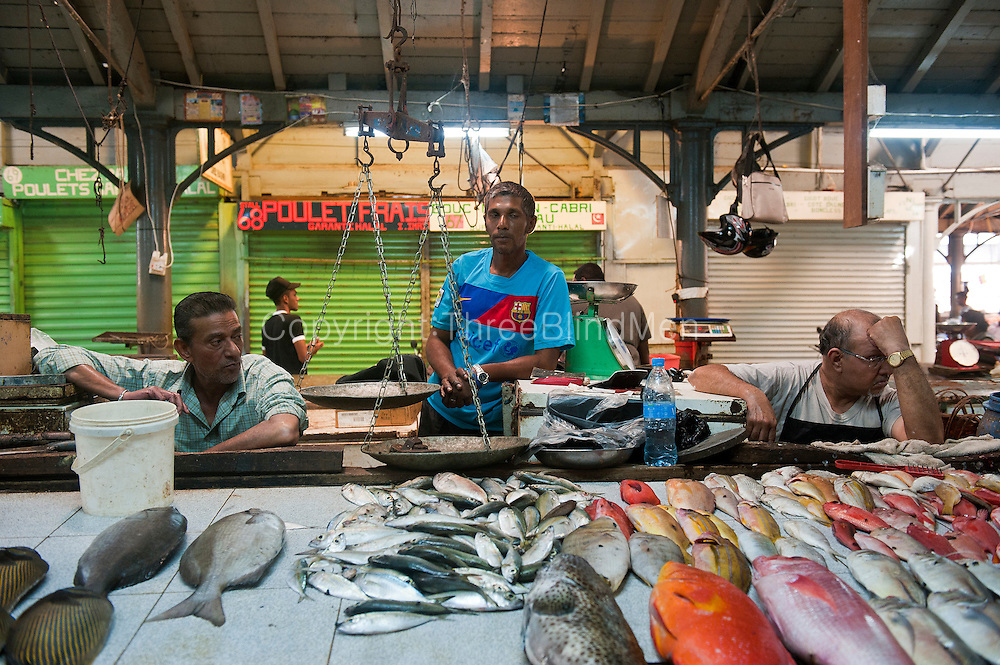 The fish market in Port Louis.
