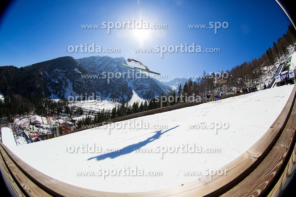 BRESADOLA Davide of Italy soaring through the air during Large Hill Individual Qualification Event at 1st day of FIS Ski Jumping World Cup Finals Planica 2014, on March 20, 2014 in Planica, Slovenia. Photo by Vid Ponikvar / Sportida