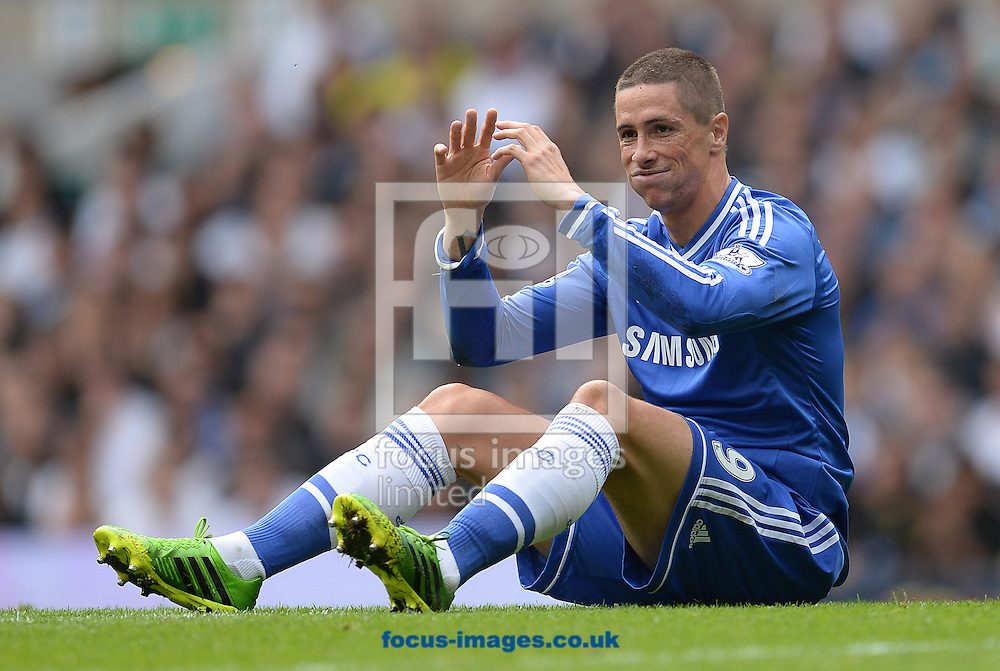 Picture by Andrew Timms/Focus Images Ltd +44 7917 236526<br /> 28/09/2013<br /> Fernando Torres of Chelsea during the Barclays Premier League match against Tottenham Hotspur at White Hart Lane, London.