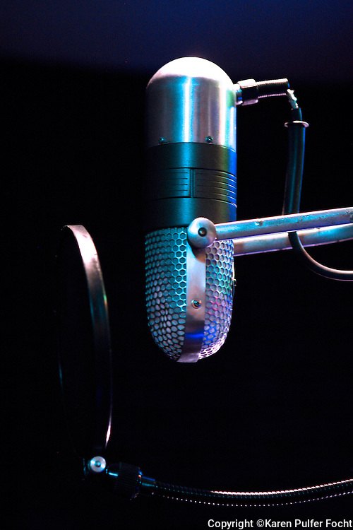 Microphone from Royal Studios owned by Willie Mitchell in Memphis, Tennessee.
