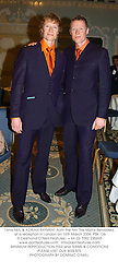 Twins NEIL & ADRIAN RAYMENT from the film The Matrix Reloaded, at a reception in London on 16th March 2004.PSK 126