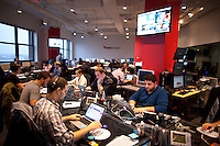 Employees working in the Livestream.com offices in New York. ..Photo by Robert Caplin.