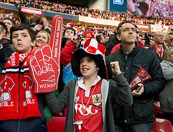 Bristol City fan - Photo mandatory by-line: Dougie Allward/JMP - Mobile: 07966 386802 - 22/03/2015 - SPORT - Football - London - Wembley Stadium - Bristol City v Walsall - Johnstone Paint Trophy Final