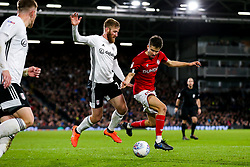 Adam Nagy of Bristol City is challenged by Tim Ream of Fulham - Rogan/JMP - 07/12/2019 - Craven Cottage - London, England - Fulham v Bristol City - Sky Bet Championship.
