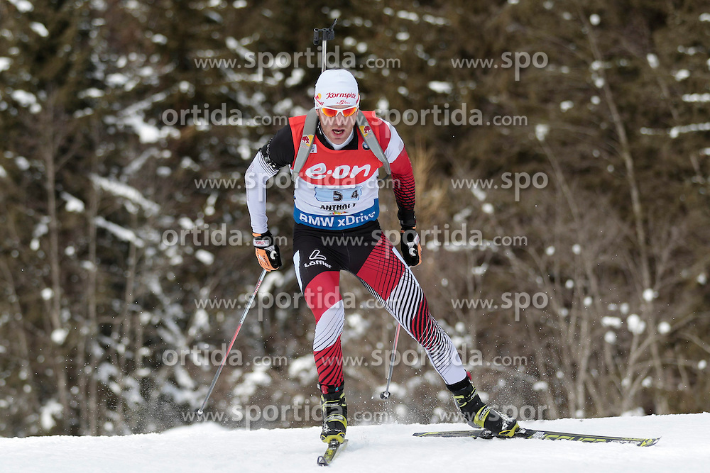 25.01.2015, Suedtirol Arena, Antholz, ITA, IBU Weltcup Biathlon, Antholz, Staffel Herren, im Bild Simon Eder (AUT) // during the mens Relay of IBU Biathlon World Cup at the Suedtirol Arena in Antholz, Italy on 2015/01/25. EXPA Pictures © 2015, PhotoCredit: EXPA/ Federico Modica