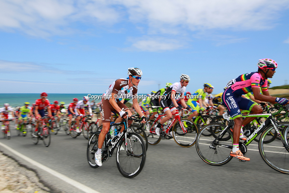 2015 Santos Tour Down Under. Adelaide. Australia. 24.1.2015. Stage  5. Mc Laren Vale to Willunga Hill.151.5km - #167, GRMAY Tsgabu Gebremaryam, Ethiopia, Team Lampre <br />  - Tour Down Under Australia 2015, Cycling, road race, Radrennen, Australien -  Radsport - Rad Rennen <br /> - fee liable image: copyright &copy; ATP - IVKA Damir