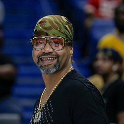 Aug 25, 2019; New Orleans, LA, USA; Rapper Juvenile attending a game during the Big Three Playoffs at the Smoothie King Center. Mandatory Credit: Derick E. Hingle-USA TODAY Sports